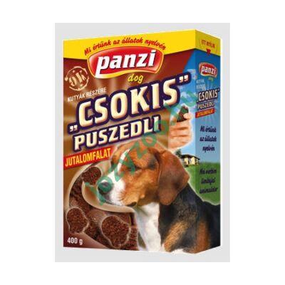 PANZI DOG JUTALOMFALAT: CSOKIS PUSZEDLI 400G