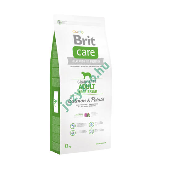 BRIT CARE ADULT LARGE BREED GRAIN FREE SALMON&POTATO 3KG