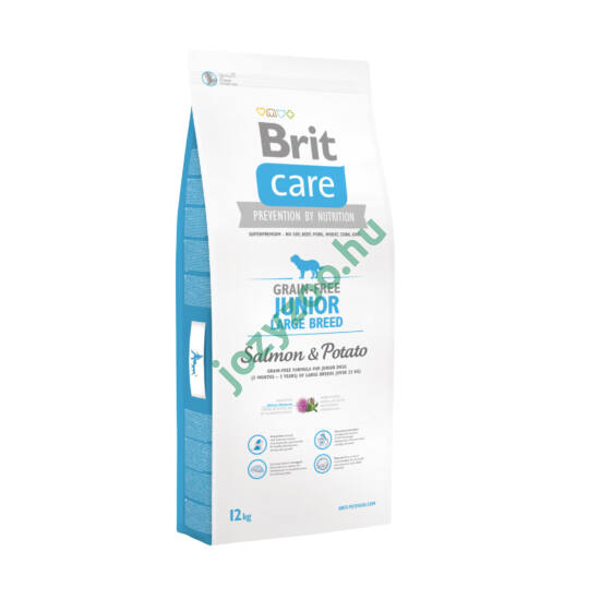 BRIT CARE JUNIOR LARGE BREED GRAIN FREE SALMON&POTATO 12KG