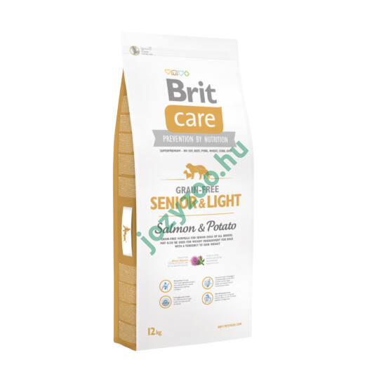 BRIT CARE SENIOR AND LIGHT GRAIN FREE SALMON&POTATO 3KG