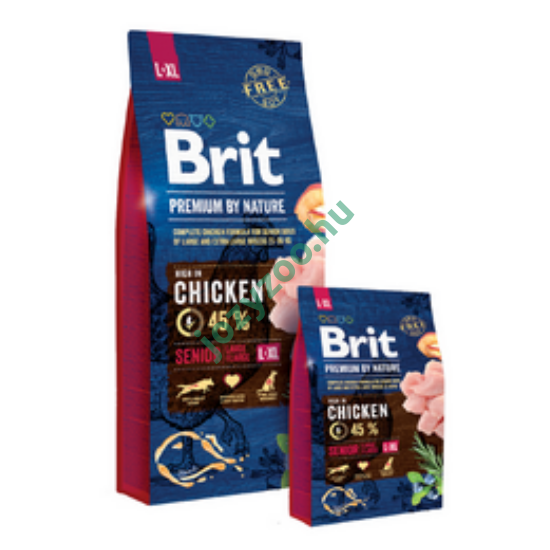 BRIT PREMIUM BY NATURE LARGRE/EXTRA LARGE SENIOR 15KG