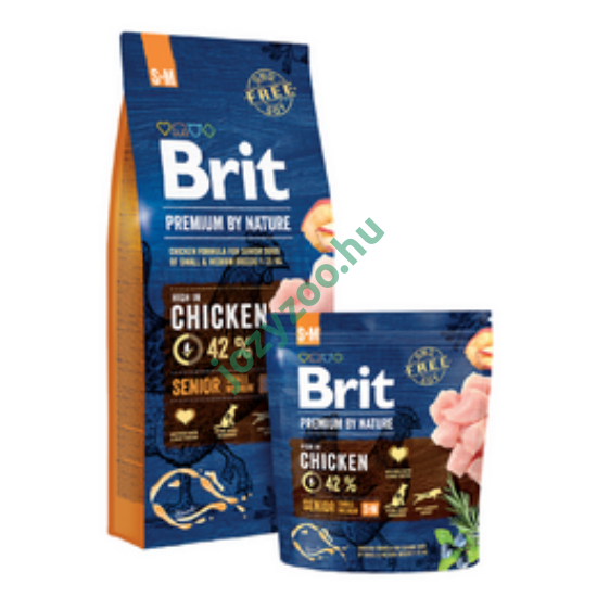 BRIT PREMIUM BY NATURE SMALL/ MEDIUM SENIOR 15KG