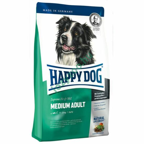 HAPPY DOG FIT & WELL ADULT MEDIUM 12,5 KG