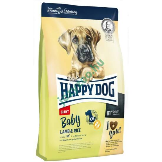 HAPPY DOG BABY GIANT LAMM/REIS 15KG