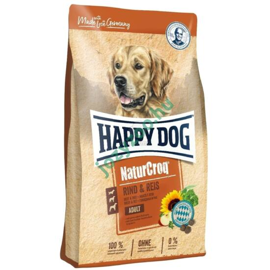 HAPPY DOG NATUR-CROQ RIND & REIS 15KG