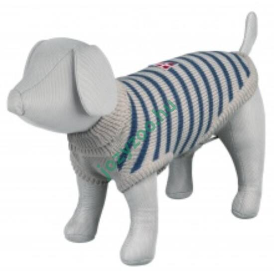 TRIXIE Kutya pulcsi Milton M 50cm szürke/kék